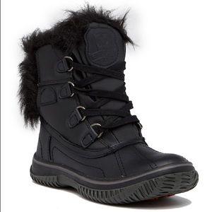 New Pajar Icelia Black Waterproof Faux Fur Boot